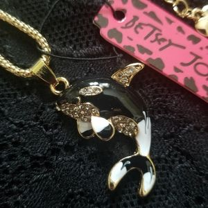 Betsey Johnson Orca Whale Necklace